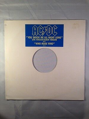 AC/DC You shook me all Night long live Version/album Version b/w Who Made Who