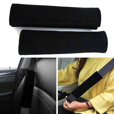 2pcs Soft Car Safety Seat Belt Harness Shoulder Strap Backpack Pad Cushion Cover