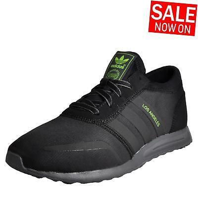 timeless design 3f58a 9a1d3 Adidas Originals Los Angeles LA Mens Classic Casual Retro Trainers Black