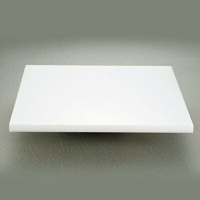 UHMWPE 500MMx 500mm x 80mm THICK PLASTIC POLYETHYLENE SHEET WHITE FREE POST