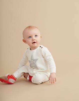 Joules Kids Star Unisex Babygrow with Poppers in 100 % Cotton in Cream