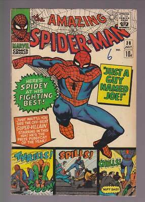 Amazing Spider-Man # 38  Just a Guy Named Joe !  grade 5.0 scarce book !