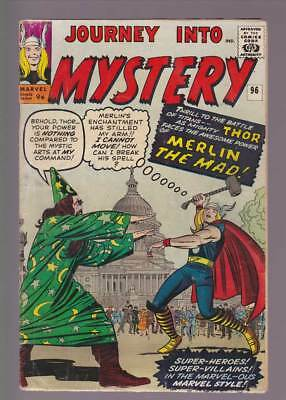 Journey into Mystery # 96  The Power of Merlin the Mad ! grade 3.5 scarce book !