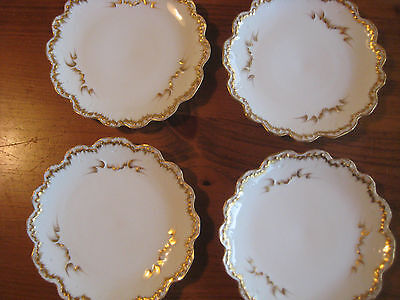 Antique Abram French & Co.chicago Plates 4  C1874-1884  Imported From France