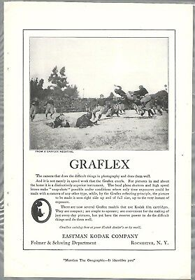 1921 GRAFLEX advertisement,  Eastman Kodak ad, football game photo