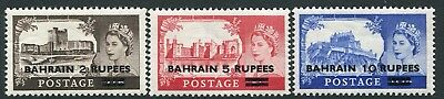BAHRAIN-1955-60 Castle High Values Sg 94-96 UNMOUNTED MINT V20365