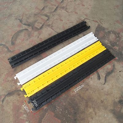 839117 Indoor Cable Cover Protector Single Groove White Black Yellow 130X1000mm