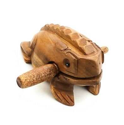 Zicome 5 Inch Wooden Handcraft Frog Animal Guiro Rasp Croaking Sound Toy...