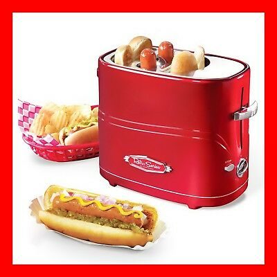 Retro Series Pop-Up Hot Dog Toaster Cooker Nostalgia Electrics Machine Roller