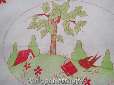 Vintage Cottage Unfinished Crib Pillow Case to Embroider VOGART STYLE