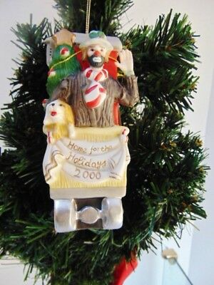 Emmett Kelly Jr. Christmas Dated Ornament, Limited Edition, Dated 2000.