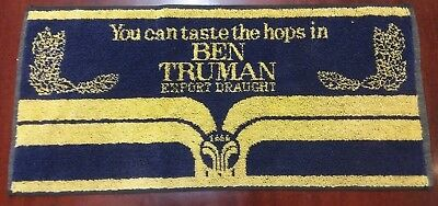 "Vtg Ben Truman Export Draught  BEER PUB BAR TOWEL ""You can taste the hops in"""