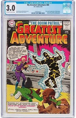 My Greatest Adventure #80 CGC 3.0 DC 1963 1st Doom Patrol! Key Silver! G9 213 cm