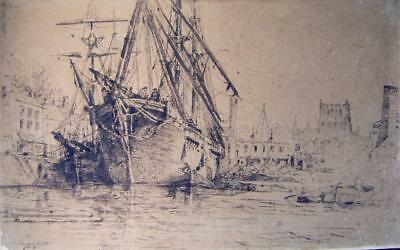 Maritime The Samuel Watts In Bristol Harbour Ink Richard Henry Nibbs C1870