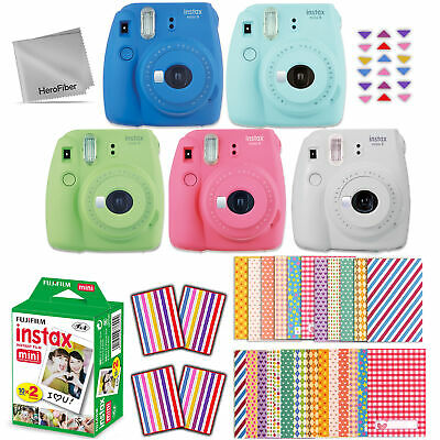 Fujifilm Instax Mini 9 Instant Camera + 20 Sheet Film + EMOJI Stickers + Acc Kit