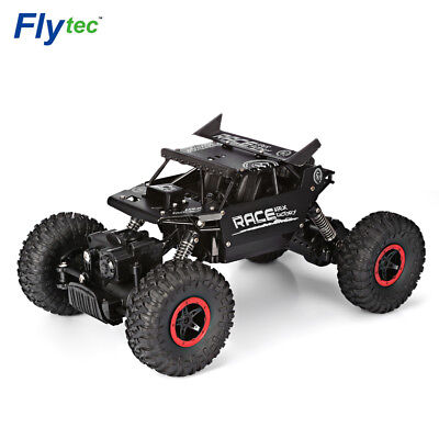 Flytec 1:18 Alloy 2.4G 4WD High Speed Climbing Rock Car Racing Vehicle Black