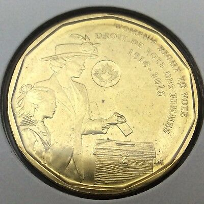 1916-2016 Canada 1 One Dollar Loonie Uncirculated Canadian Coin Not In Case C272
