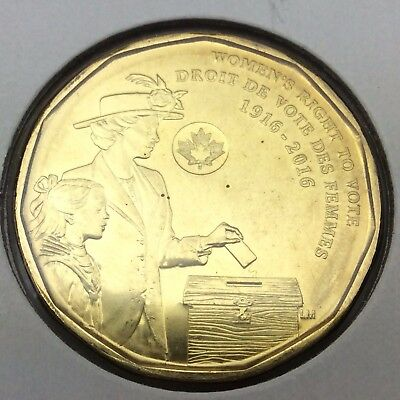 1916-2016 Canada 1 One Dollar Loonie Uncirculated Canadian Coin C273