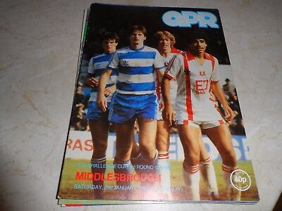 QPR v Middlesborough 1981/82 FA Cup