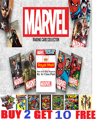 Panini MARVEL Tradings Cards 2017  Buy 2 get 10 FREE!!!!  FREE Postage!