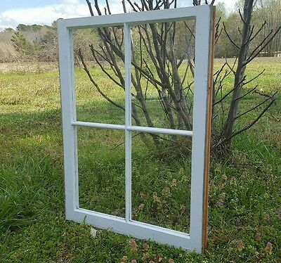 VINTAGE SASH ANTIQUE WOOD WINDOW UNIQUE FRAME PINTEREST RUSTIC 4 PANE 31x24
