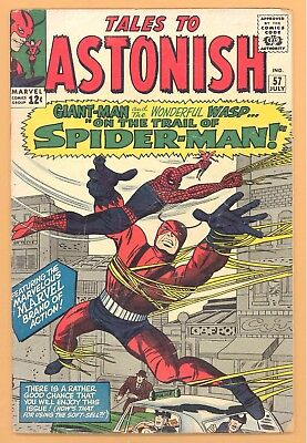 Tales To Astonish #57 Feat. Spiderman Marvel Silver Age Giant-Man And Wasp Vg+