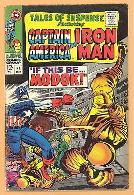 Tales Of Suspense #94 1St Modok Marvel Silver Age Iron Man Vgf