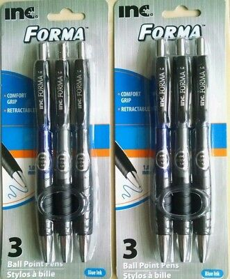 Inc Forma Ballpoint pens - Black ink - Dark barrels - 1.0mm - 2 packs
