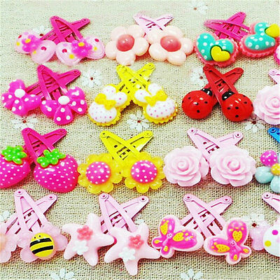 Lots 20pcs Girls Mix Styles Assorted Cute Baby Kids HairPin Hair Clips Jewelry
