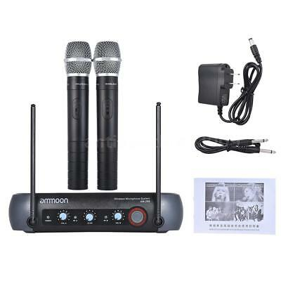Dual Channel Wireless Handheld Microphone System with Echo Function 2 Mics O1A6