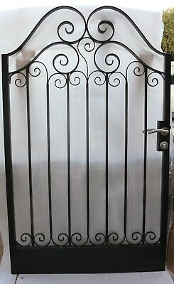 Pedestrian Gate Wrought Iron Adjustable 0.9m to 1.0m opening, 1.8m high In Stock