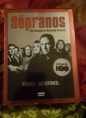 The Sopranos Complete Second Season DVD Box Set Two 2 - FOIL New Factory Sealed