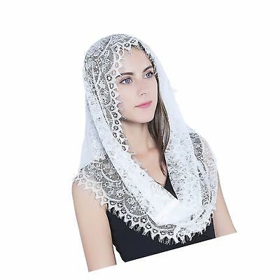 Infinity Scarf Mantilla - Catholic Veil Church Veil Head Covering Latin Mass