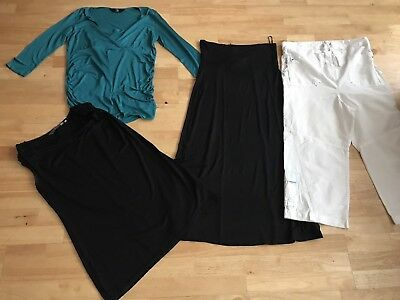 Maternity bundle size 12 tops black skirt trousers mothercare new look