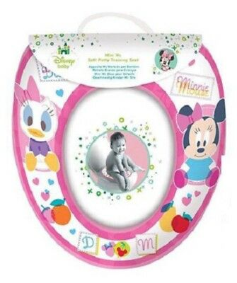 Disney Minnie Mouse Girls Pink Padded Toilet Seat Soft Potty Training