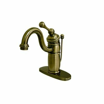 Kingston Brass KB140.BL Antique Brass Victorian Bathroom Faucet with Metal