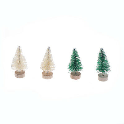 6pcs Christmas Tree Mini Pine Trees Home Desktop Decor Christmas Decor Kids 4y