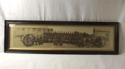 WW1 Framed Photograph Of The IX Royal Field Artillery c1916