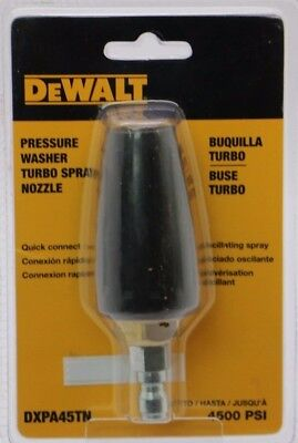 NEW DeWALT Pressure Washer Turbo Spray Nozzle DXPA45TN 4500 PSI