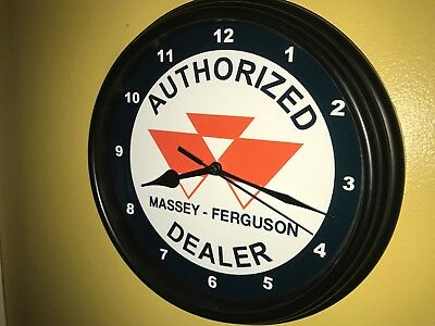 Massey Ferguson Farm Tractor Barn Store Garage AuthDealer Wall Clock Sign