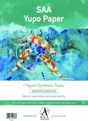 YUPO Synthetic Painting Paper SHEETS - 85gsm - Choose A4 / A3 - 10 / 25 Sheets