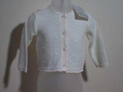 Baby Girls Clothes Spanish Style  cardigan  white 0-3 m 3-6 m 6-9 m 9-12 months