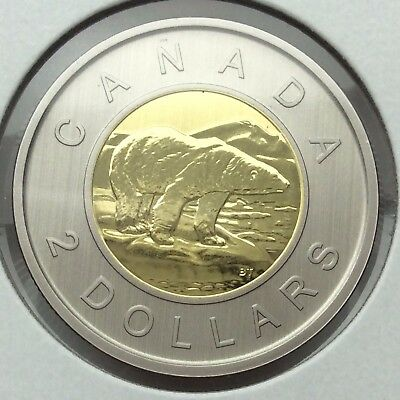 2017 Canada Specimen Two Dollar Toonie Canadian Coin UNC Not In Case C292
