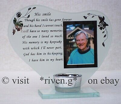 Memorial CANDLE@WIDOWED@Chapel of Rest@PICTURE Keepsake@ETERNAL Remembrance