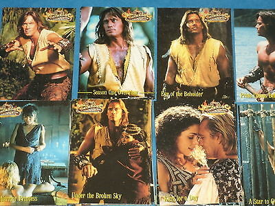 Hercules 'The Legendary Journeys' TV Base Set Of Trading Cards Xena, Gabrielle