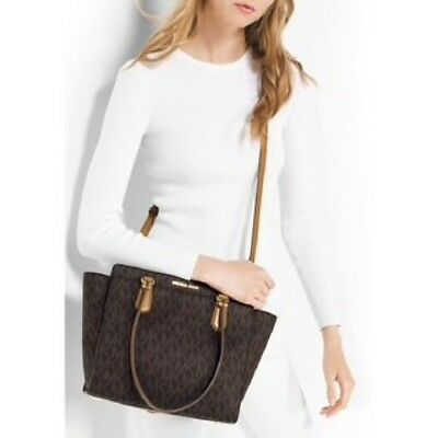 f3a85070725f Nwt $358 Michael Kors Dee Dee Large Signature Convertible Tote Satchel Purse