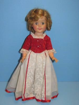 """Vintage Htf  1961 15"""" Ideal Shirley Temple In Htf Cinderella Dress Shoes Panties"""