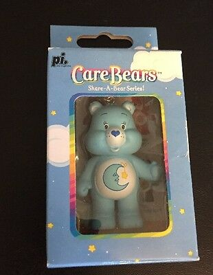 New In Box Care Bears Cell Charm / Keychain Figure Bedtime Bear