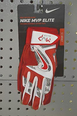 New $45 Nike MVP Elite Adult Batting Glove Unisex Red/ White/Grey/ Small S