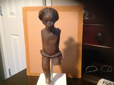 Amazing Antique Clay Figure/Sculpture/Folk Art/African American Man